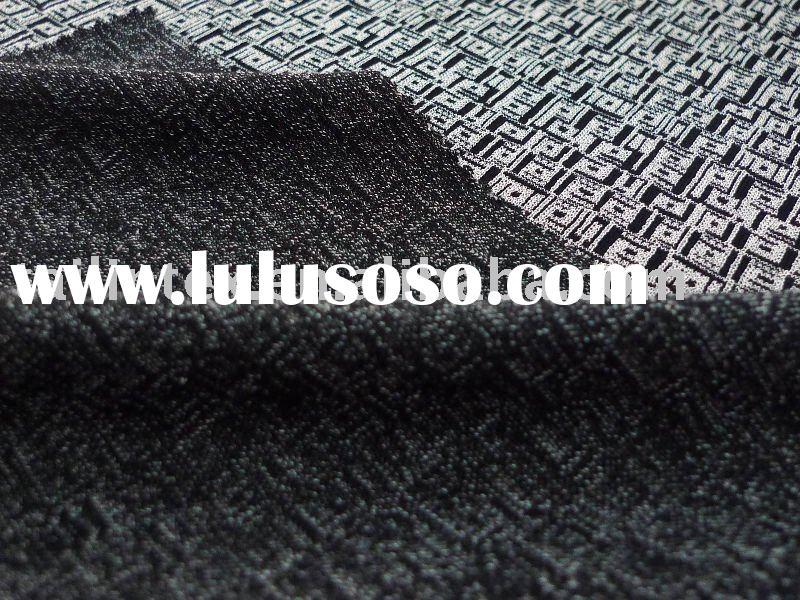 RAYON POLYESTER SPENDEX INTERLOCK JACQUARD KNITTED FABRIC