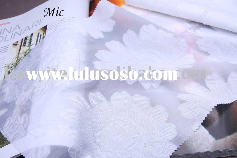 White Cutting Jacquard Fabric
