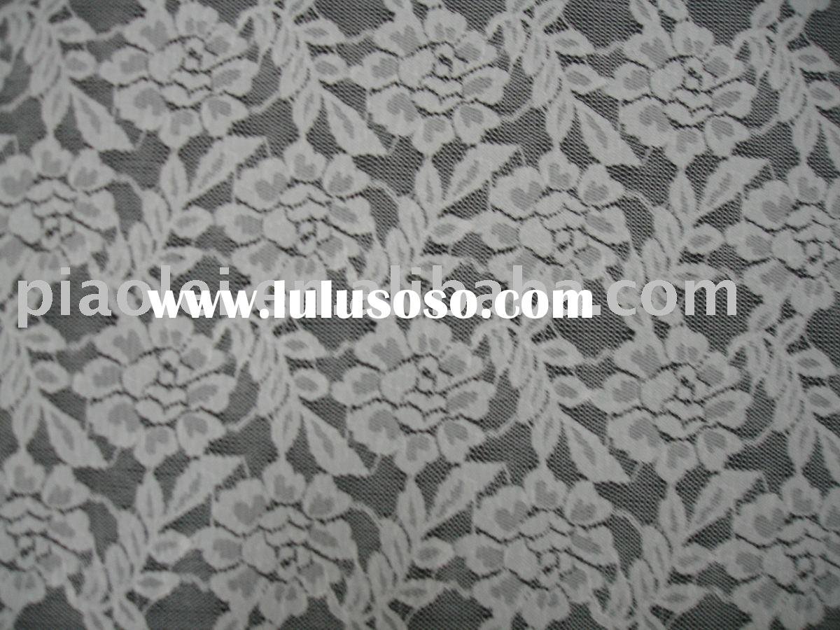 White Jacquard lace Fabric