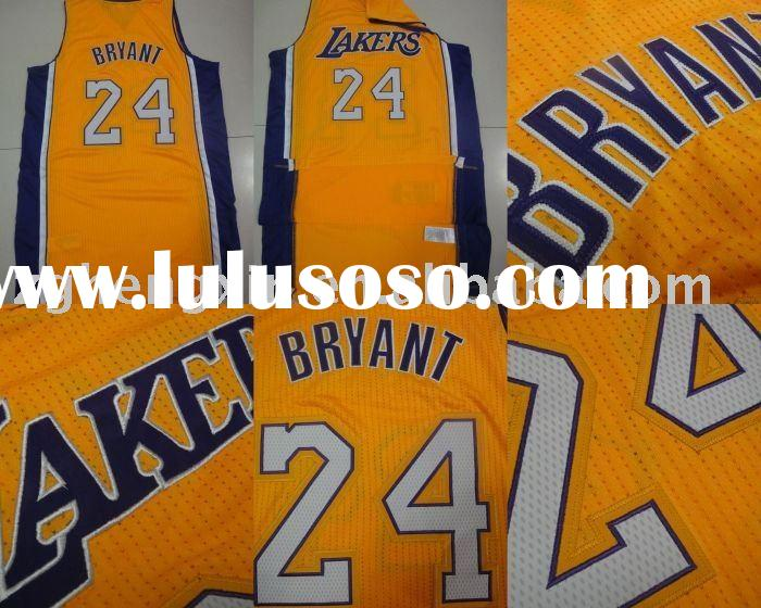 Wholesale Los Angeles Lakers #24 Revolution 30 Authentic Home yellow Jerseys,basketball jerseys,bask
