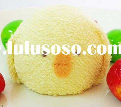 #P05 100% cotton promotional towel cake