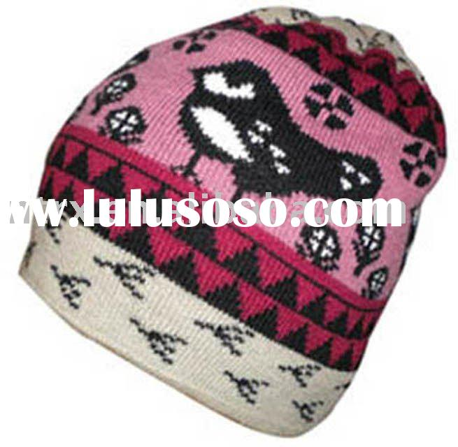 acrylic fashion jacquard winter hat