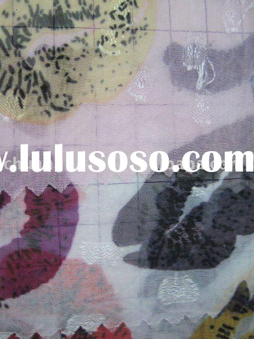 china silk printed   fabric