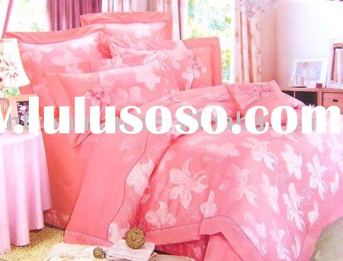 cotton satin jacquard bedding set