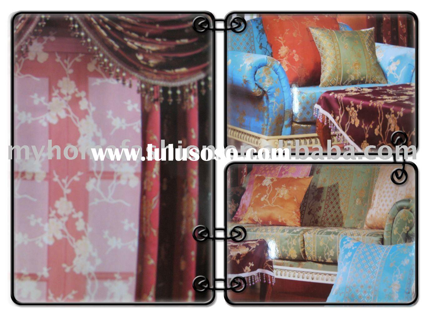 discount jacquard curtain fabric