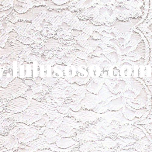 eyelash/ white jacquard lace fabric /good for luxury wedding dress