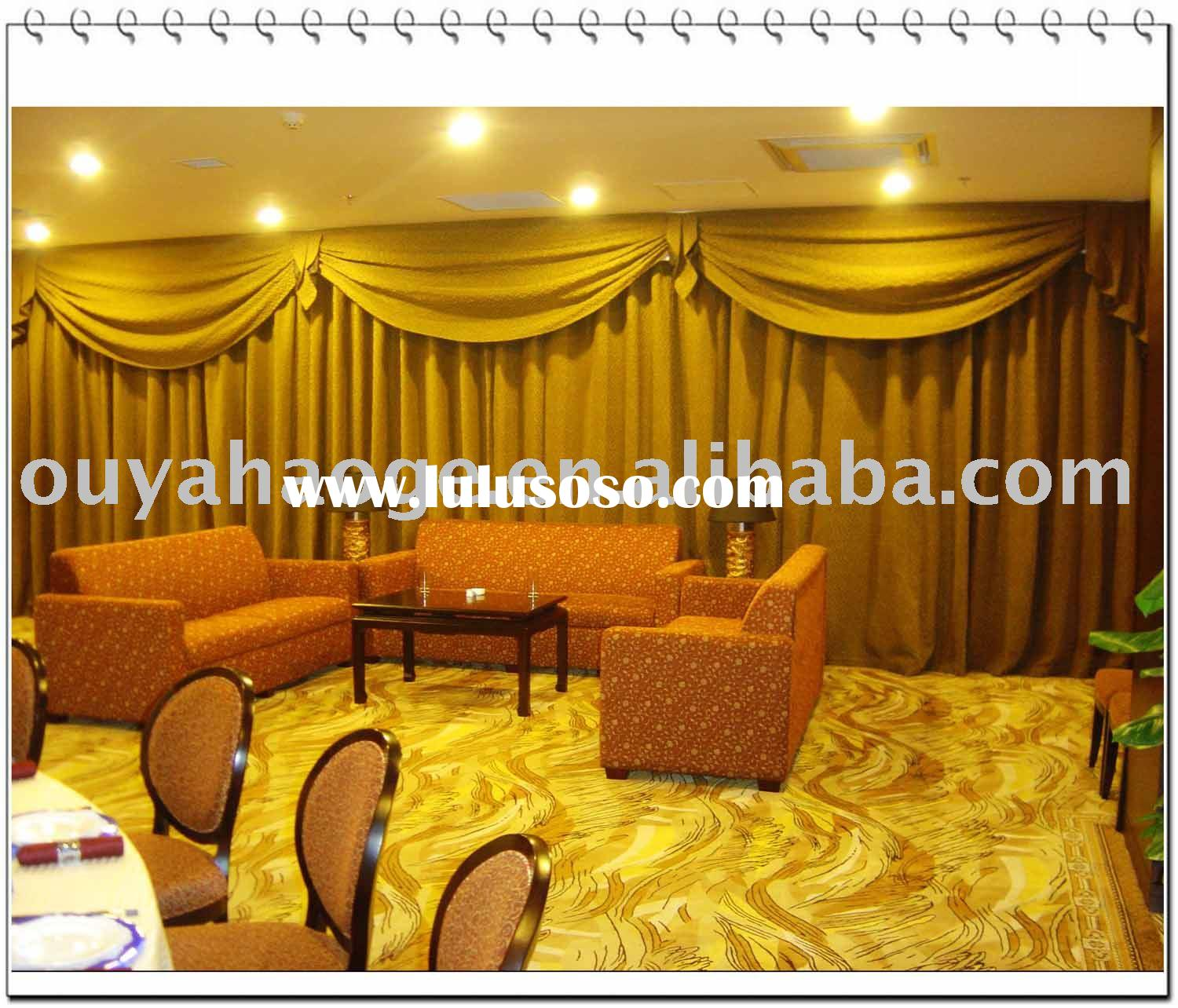 jacquard polyester hotel curtain drape (OY0032)