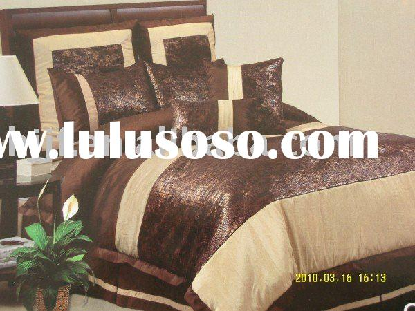 jacquard polyester woven bedding sets