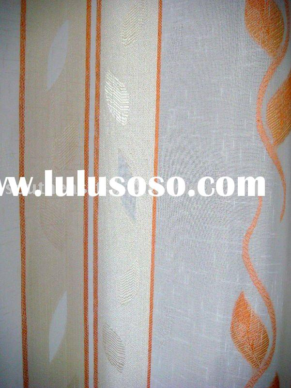 linen jacquard curtain fabric