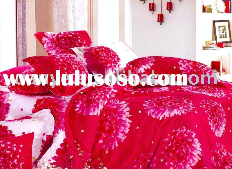 luxury cotton jacquard printed bedding set