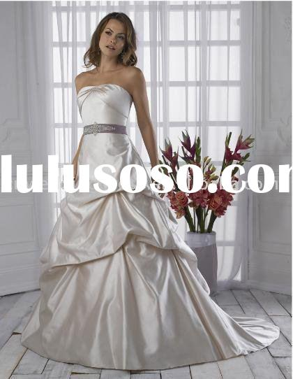 perfect style customized 100% silk classic wedding dress royal blue wedding dress manufacturer