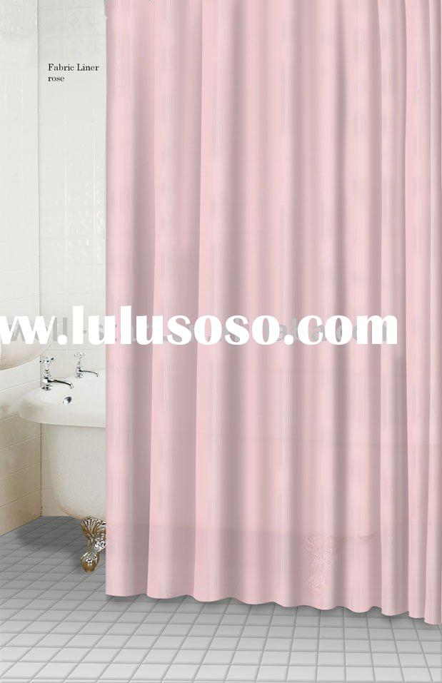 plain solid color polyester fabric liner shower curtain