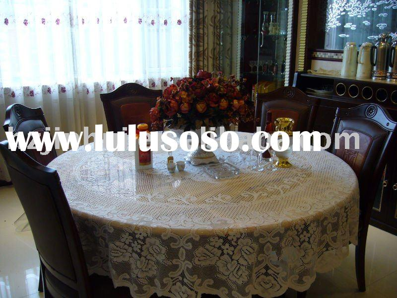 polyester jacquard round table clothes