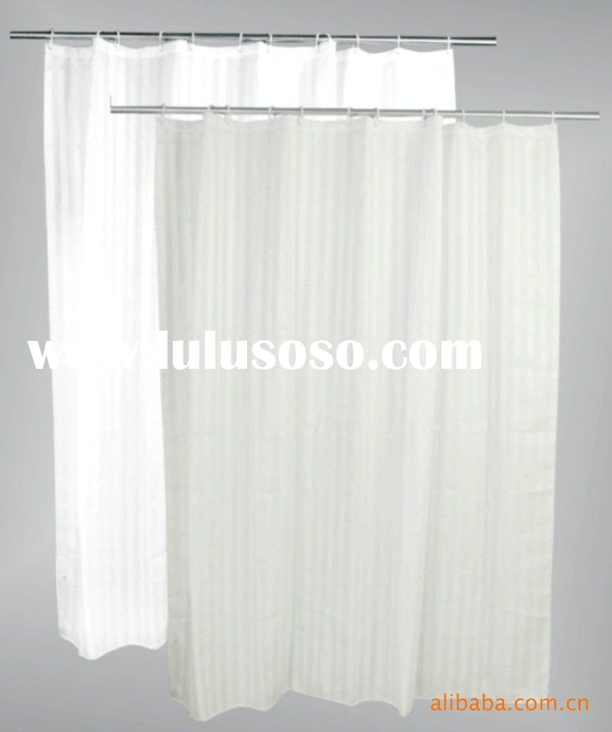 polyester stripe shower curtain