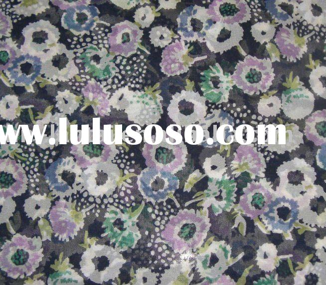 printed  silk printed fabric