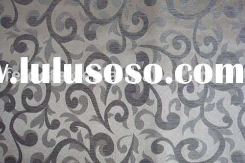 simple floral design jacquard curtain fabric