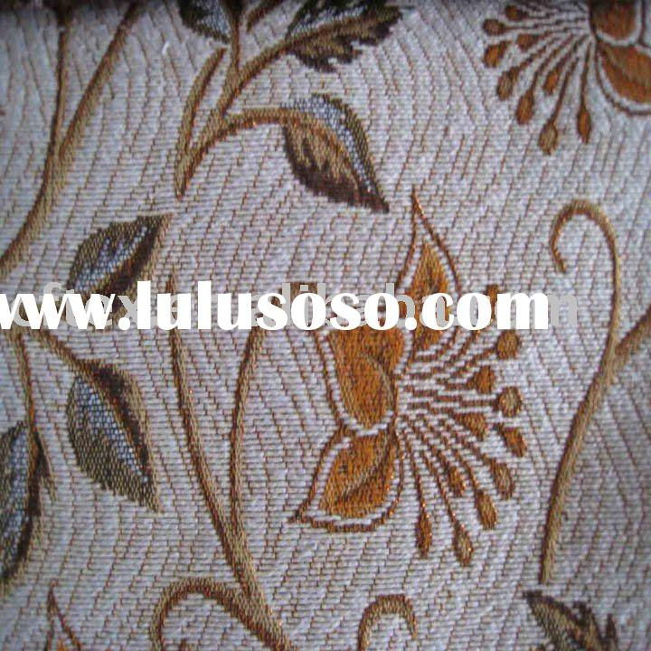 traditional spun gold  jacquard polyester and cotton curtain fabric for home textile