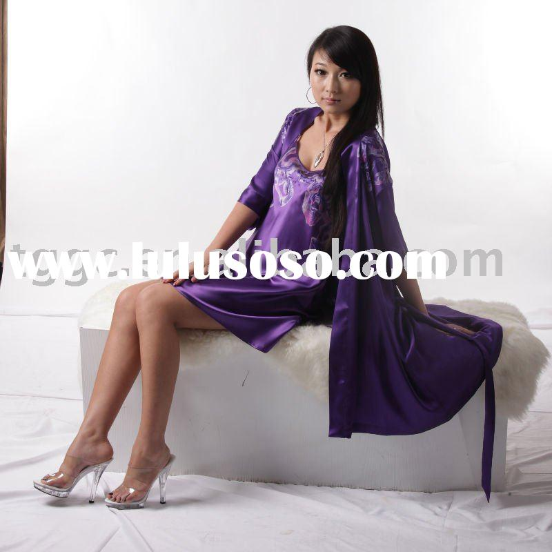 women's silk embroidered nightgown
