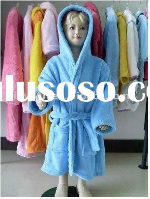 100% Polyester Solid color baby pajamas