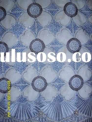 100% cotton Swiss voile lace fabric 2060