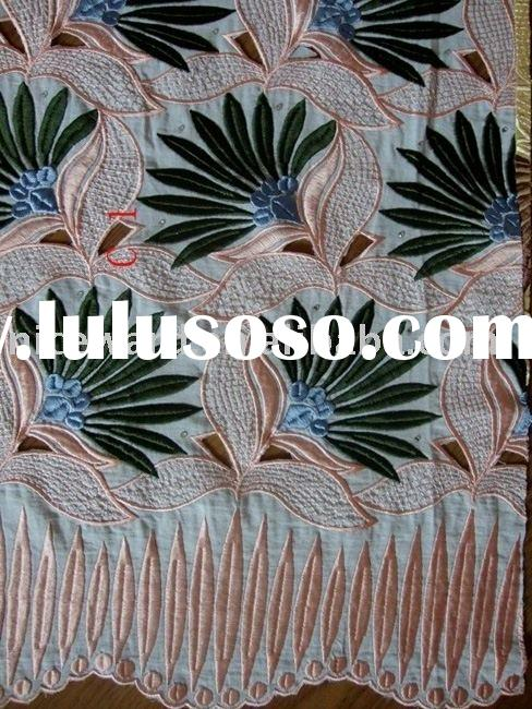 100% swiss cotton voile lace fabric  yx9045