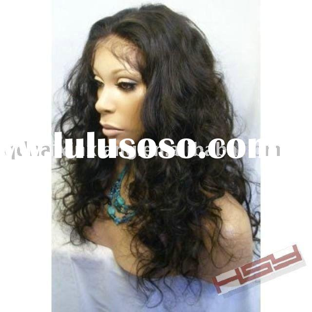 "16"" fashion ladys' silk top Italian wave full lace wigs"