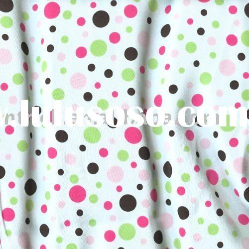 2009 new design printed polka dot cotton fabric for shirt,blouse,dress,clothes and home textile