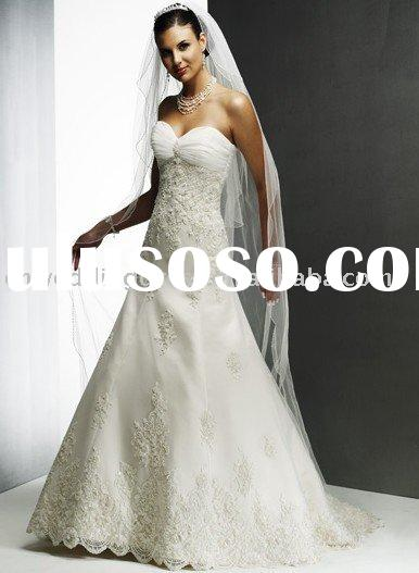 2010 lace fabric wedding dress