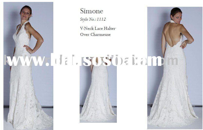 2011 Romantic Wedding gown, Bridal wear, French Lace.