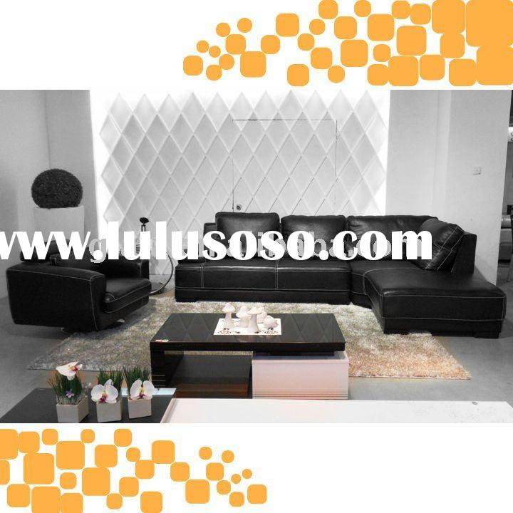 Black modern living room furniture GE808
