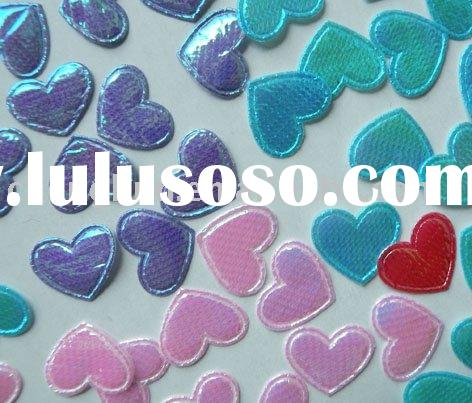 Crafts accessories fabric material heart design