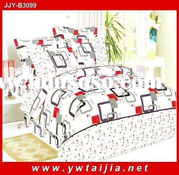 Fashion style polyester pigment printing bedsheet