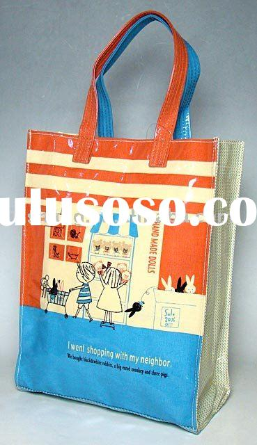 New fashion pvc laminated cotton shopping bag