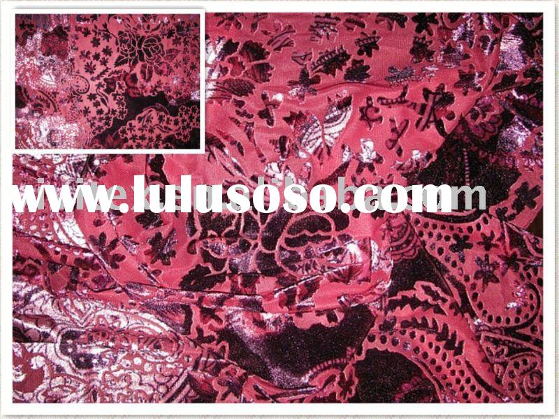 Polyester nylon spandex velour knit fabric