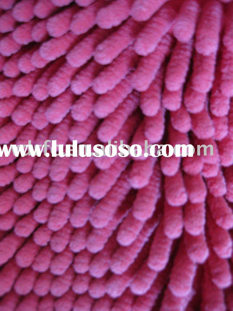 Supply 100% polyester Microfiber chenille fabric/ bedding fabric