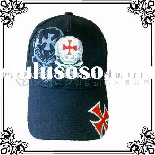 T/C Fashion Polyester Cotton Twill 6 Panel Baseball Caps Embroidery Logo