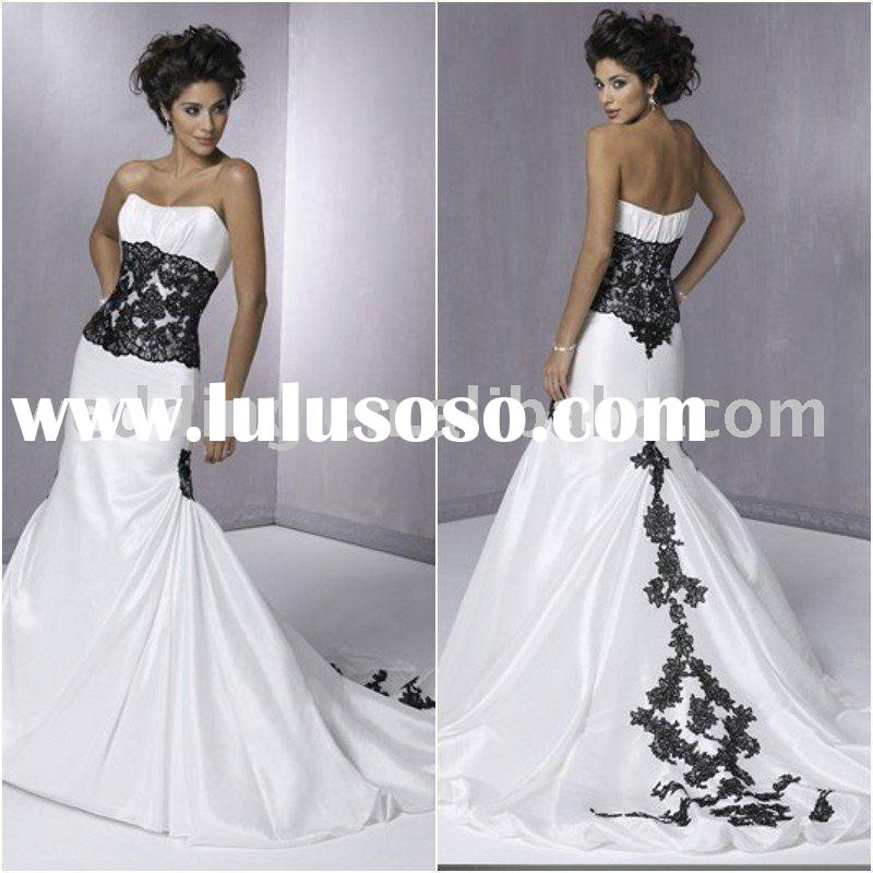 WD1949 Designer  Lace Fabric Satin Bridal Dress