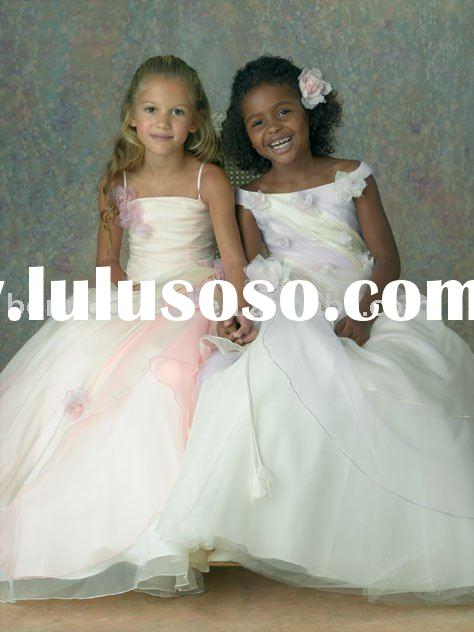 Wholesale formal children wear for wedding formal lovely flower girl dress k163
