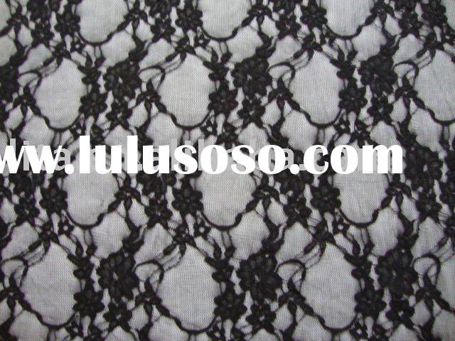 black stretch lace fabric