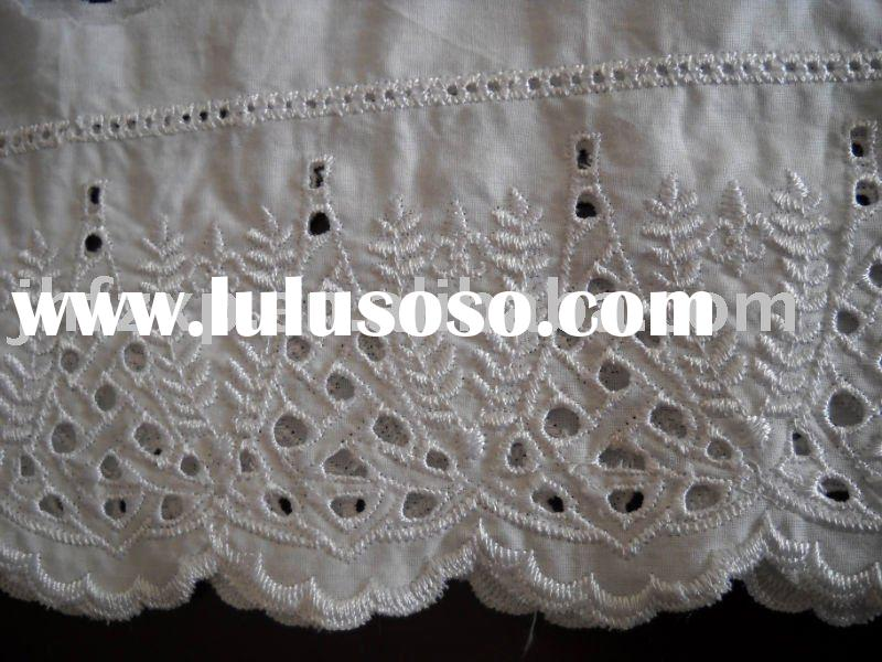 fashionable cotton Embroidery Lace  Fabric