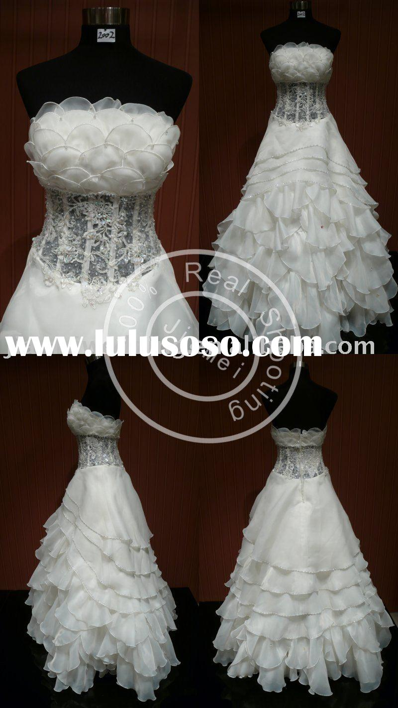 lace fabric marriage dress duchess designer beaded evening gowns