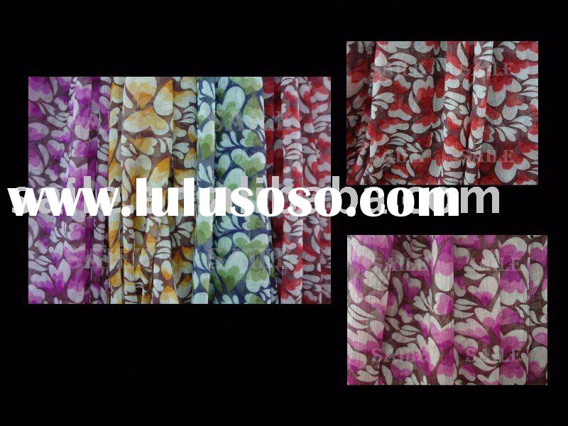 polyester chiffon floral fabric