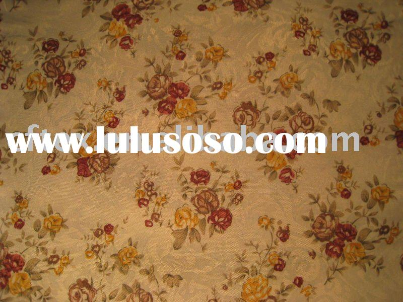 polyester cotton flower printed fabric