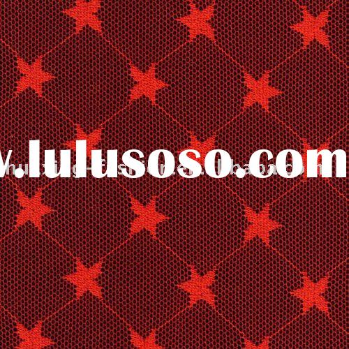 red stretch knitted fabric