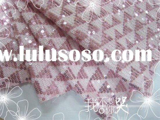 sequin embroidered fabric/lace embroidered fabric/clothes fabric