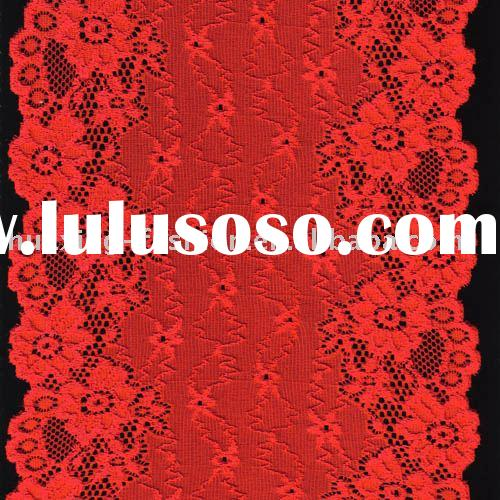 stretch red lace