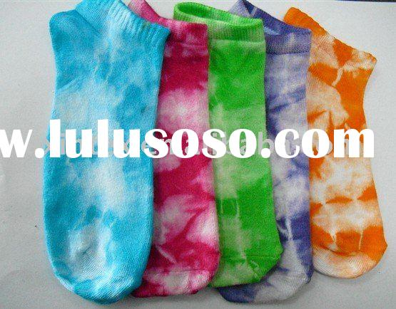 tie dyed cotton sox