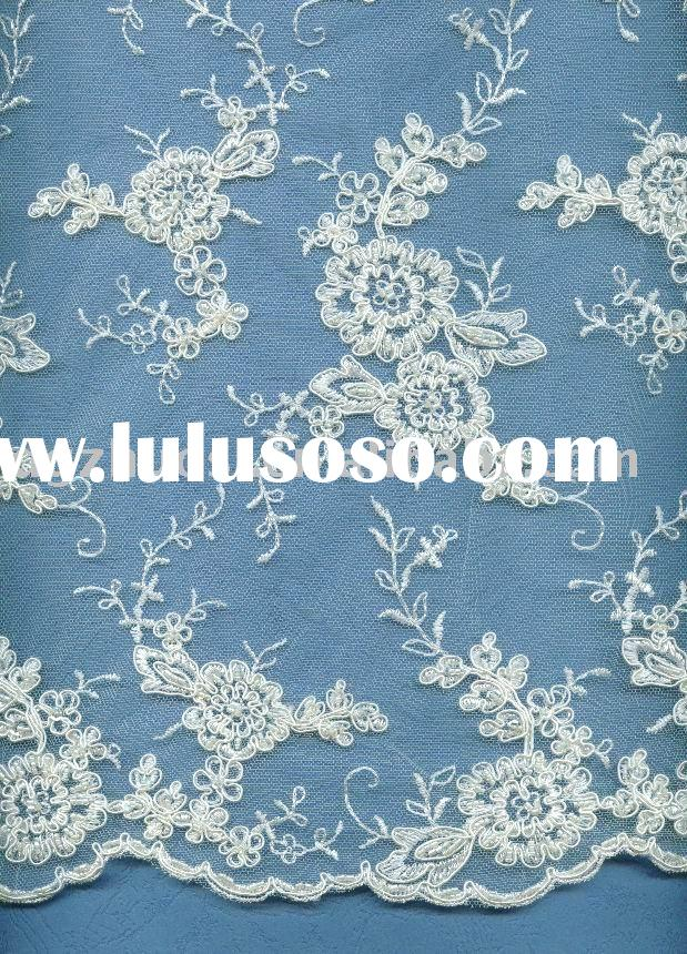 tulle lace/embroidered fabric