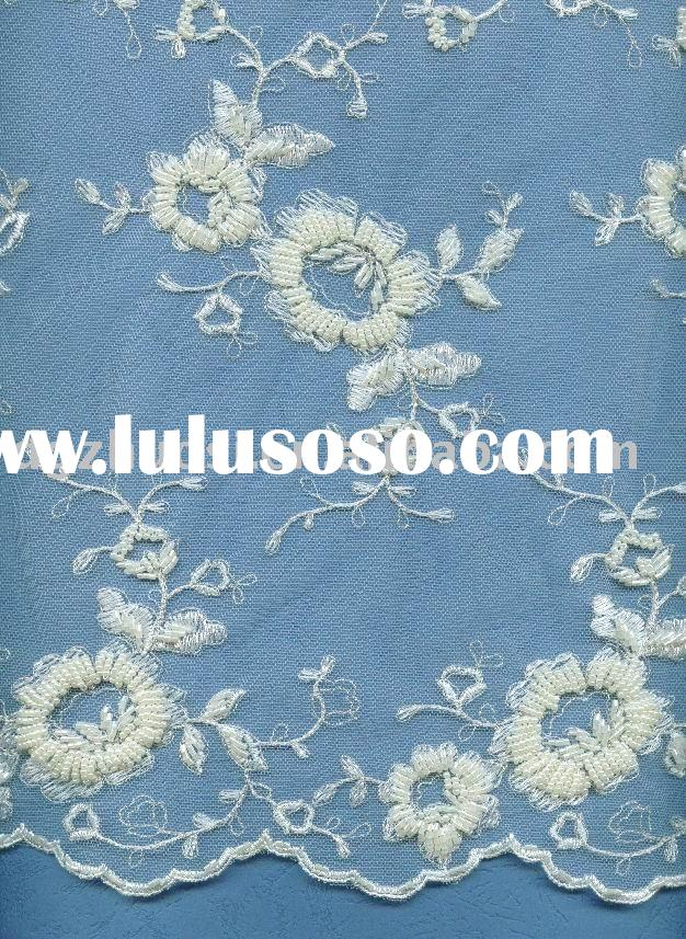 wedding embroidery laces/bridal lace fabric