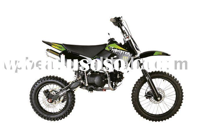 125cc dirt bike(kawasaki design,monster sticker,17/14 big foot)